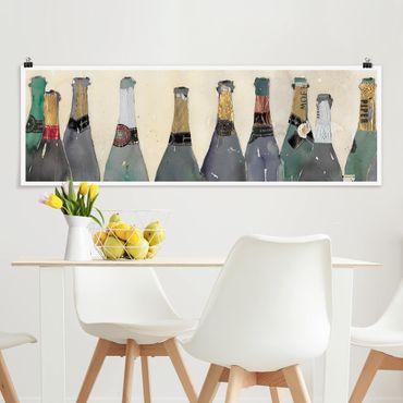Poster - Entkorkt - Champagner - Panorama Querformat