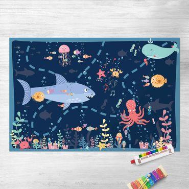 Vinyl-Teppich - Spielteppich Unterwasser - Auf Entdeckungstour - Querformat 3:2
