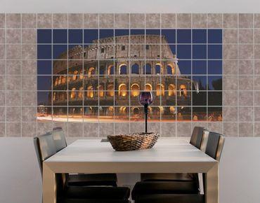 Fliesenbild - Colosseum in Rom bei Nacht