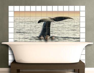 Fliesenbild - Wal beim Tauchgang