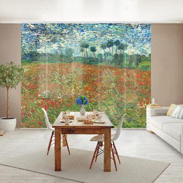 Schiebegardinen Set - Vincent van Gogh - Mohnfeld - Flächenvorhänge