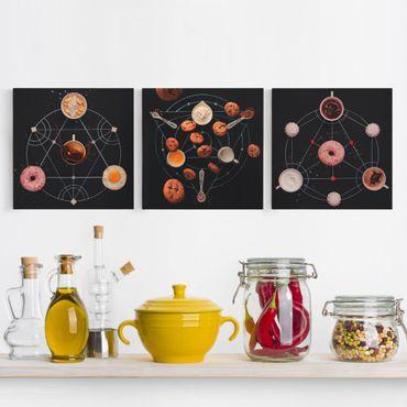 Leinwandbild 3-teilig - Alchemien der Küche - Quadrate 1:1