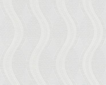 A.S. Création Streifentapete Meistervlies 2020 in Weiß, Überstreichbar