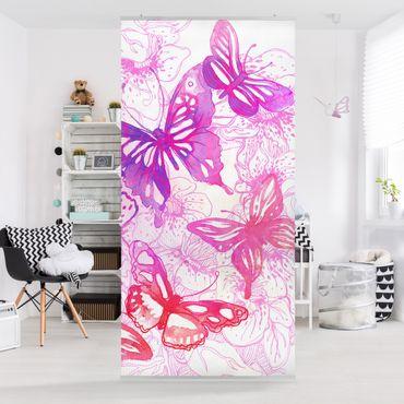 Raumteiler Kinderzimmer - Schmetterlingstraum 250x120cm