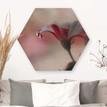 Hexagon Bild Holz - Invisible Touch