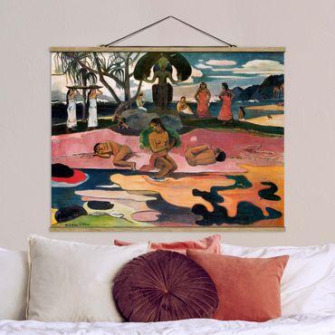 Stoffbild mit Posterleisten - Paul Gauguin - Gottestag - Querformat 4:3