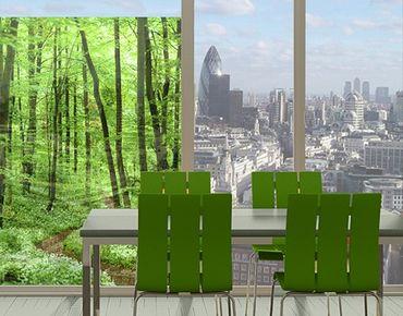 Fensterfolie - Sichtschutz Fenster Romantischer Waldweg - Fensterbilder