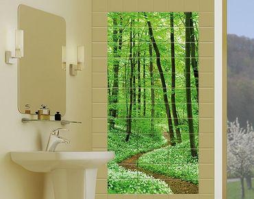 Fliesenbild - Romantischer Waldweg