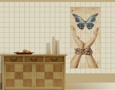 Fliesenbild - Flieg, Schmetterling!