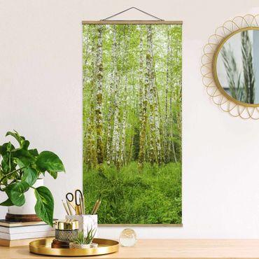 Stoffbild mit Posterleisten - Hoh Rainforest Olympic National Park - Hochformat 2:1