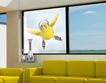 Fensterfolie - Sichtschutz Fenster Skatesittich - Fensterbilder