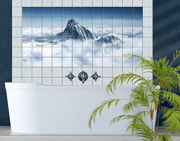 Fliesenbild - Die Alpen über den Wolken