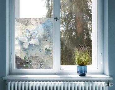 Fensterfolie - Sichtschutz Fenster Tränen einer Lilie - Fensterbilder