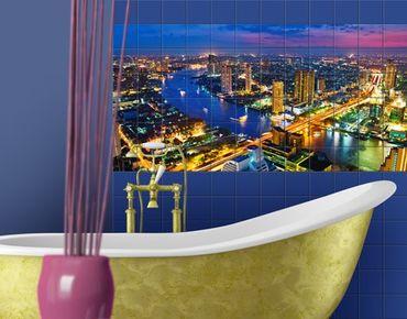 Fliesenbild - Bangkok Skyline