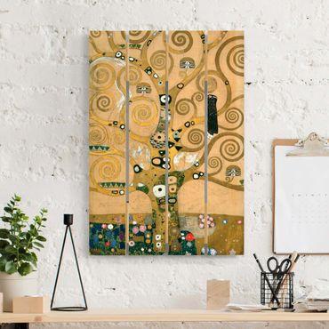 Holzbild - Gustav Klimt - Der Lebensbaum - Hochformat 3:2