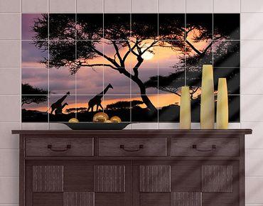 Fliesenbild - Safari in Afrika