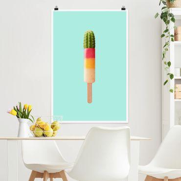 Poster - Jonas Loose - Eis mit Kaktus - Hochformat 3:2