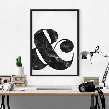 Bild mit Rahmen - Ampersand Marmor - Hochformat 3:4