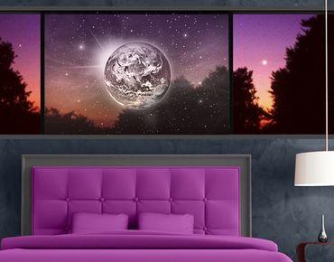 Fensterfolie - Sichtschutz Fenster Weltall II - Fensterbilder