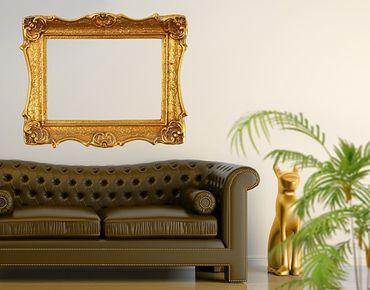 Wandtattoo No.493 Goldener Rahmen I