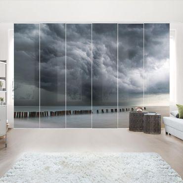 Schiebegardinen Set - Sturmwolken über der Ostsee - Flächenvorhang