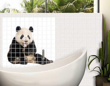 Fliesenbild - Lachender Panda