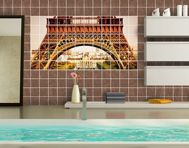 Fliesenbild - Französischer Ausblick