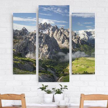 Leinwandbild 3-teilig - Italienische Alpen - Galerie Triptychon