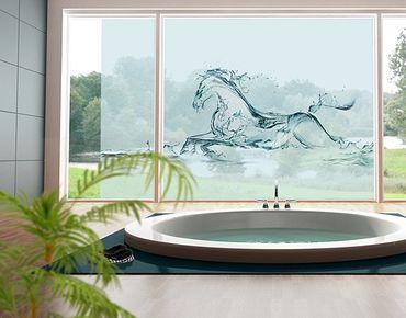 Fensterfolie - XXL Fensterbild Gläsernes Ross - Fenster Sichtschutz