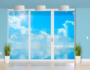 Fensterfolie - XXL Fensterbild Above Sea Level - Fenster Sichtschutz