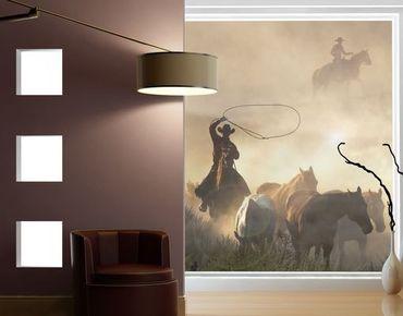 Fensterfolie - XXL Fensterbild Cowboys - Fenster Sichtschutz