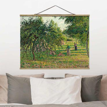 Stoffbild mit Posterleisten - Camille Pissarro - Apfelbäume - Querformat 4:3