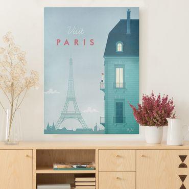Leinwandbild - Reiseposter - Paris - Hochformat 4:3