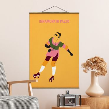 Stoffbild mit Posterleisten - Filmposter Innamorato Pazzo - Hochformat 3:2
