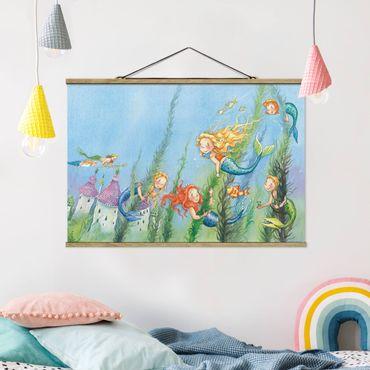 Stoffbild mit Posterleisten - Matilda die Meerjungfrauenprinzessin - Querformat 2:3