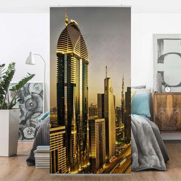 Raumteiler - Goldenes Dubai 250x120cm