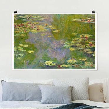 Poster - Claude Monet - Grüne Seerosen - Querformat 2:3