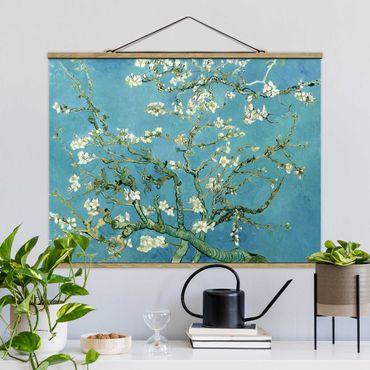 Stoffbild mit Posterleisten - Vincent van Gogh - Mandelblüte - Querformat 4:3