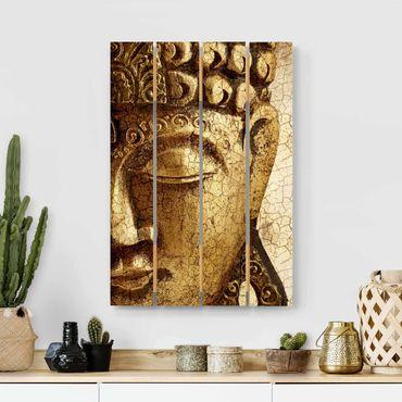 Holzbild - Vintage Buddha - Hochformat 3:2