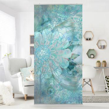 Raumteiler - Winterblumen 250x120cm