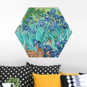 Hexagon Bild Alu-Dibond - Vincent van Gogh - Iris
