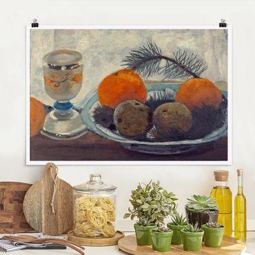 Poster - Paula Modersohn-Becker - Stillleben mit Mattglasbecher - Querformat 2:3