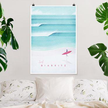 Poster - Reiseposter - Biarritz - Hochformat 3:2