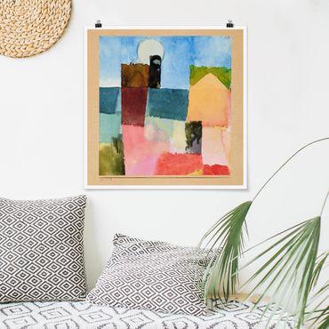 Poster - Paul Klee - Mondaufgang - Quadrat 1:1