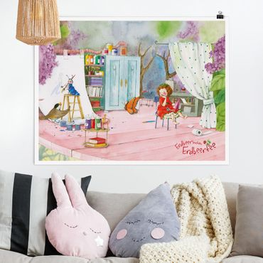 Poster - Erdbeerinchen Erdbeerfee - Bastelstunde - Querformat 3:4