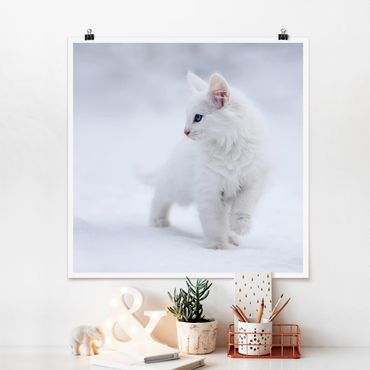Poster - Weiß wie Schnee - Quadrat 1:1