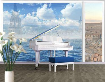 Fensterfolie - XXL Fensterbild Shining Ocean - Fenster Sichtschutz
