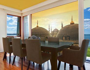 Fensterfolie - XXL Fensterbild Über den Dächern von Istanbul - Fenster Sichtschutz