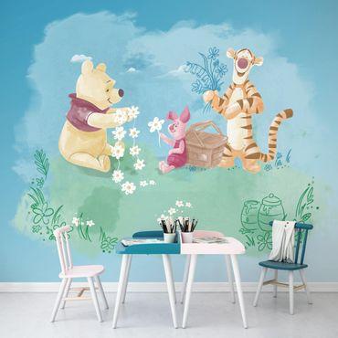 Disney Kindertapete - Winnie Pooh Picnic - Komar Fototapete