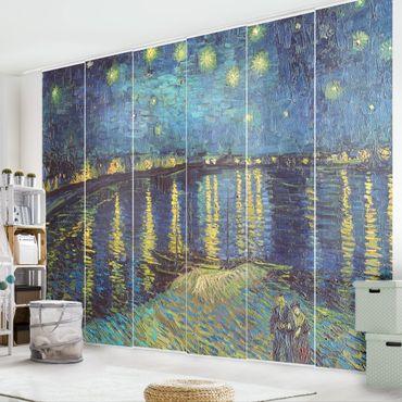 Schiebegardinen Set - Vincent van Gogh - Sternennacht über der Rhône - 6 Flächenvorhänge